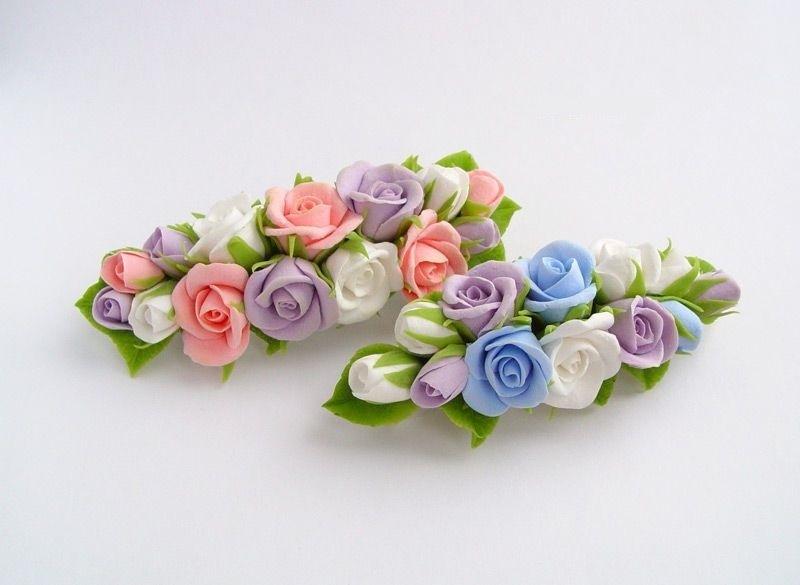Заколки с цветком