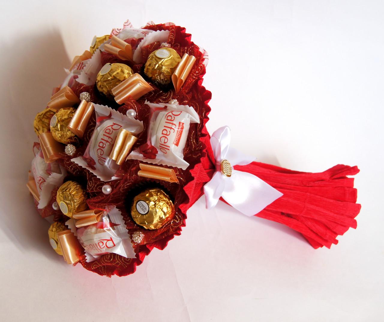Букеты из конфет своими руками: что понадобиться, инструкция, мастер-класс.