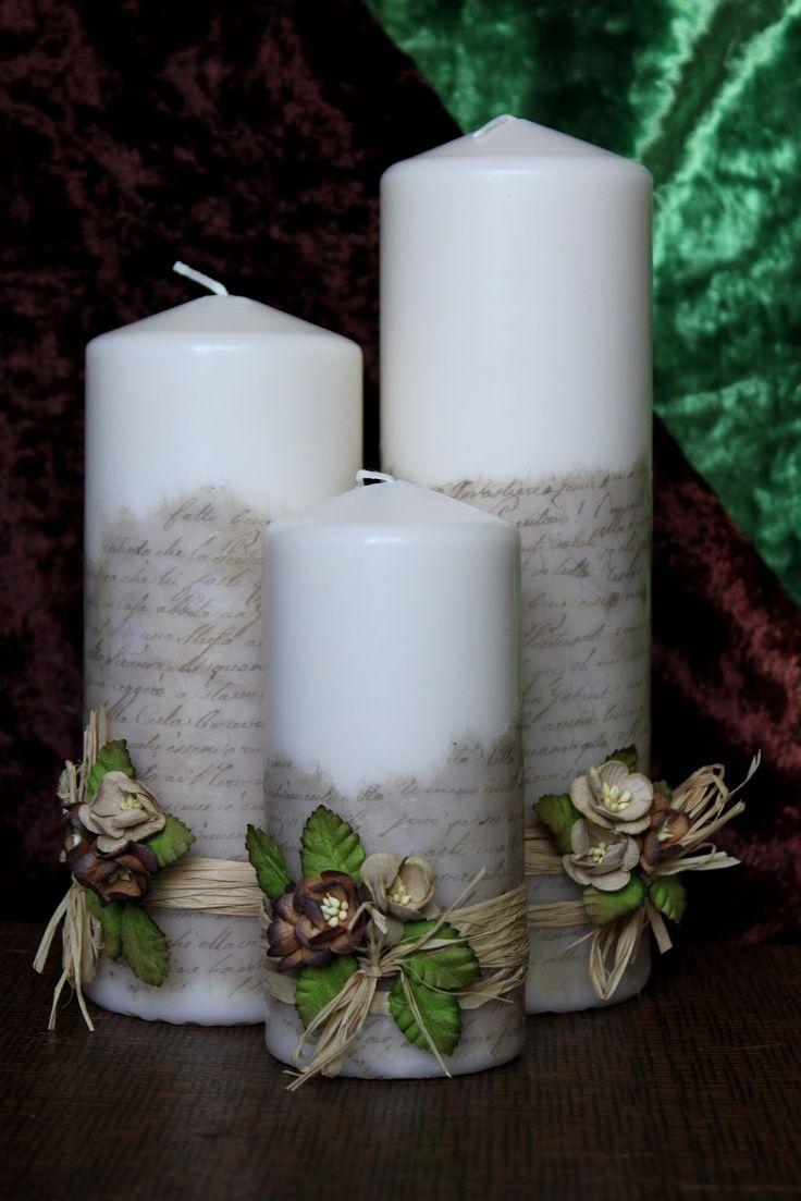 Декор свечей своими руками +75 фото примеров