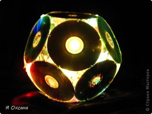Шары и светильник из cd-дисков (мк) | страна мастеров
