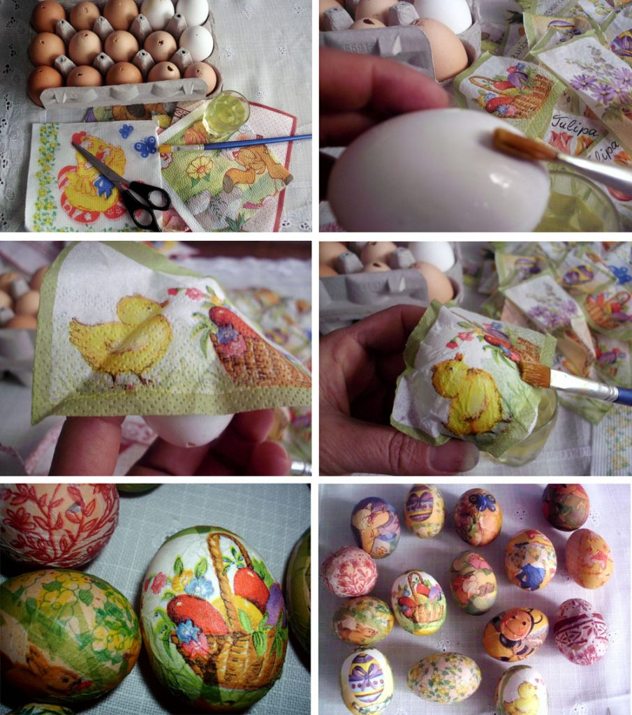 Декупаж яиц к пасхе мастер классы