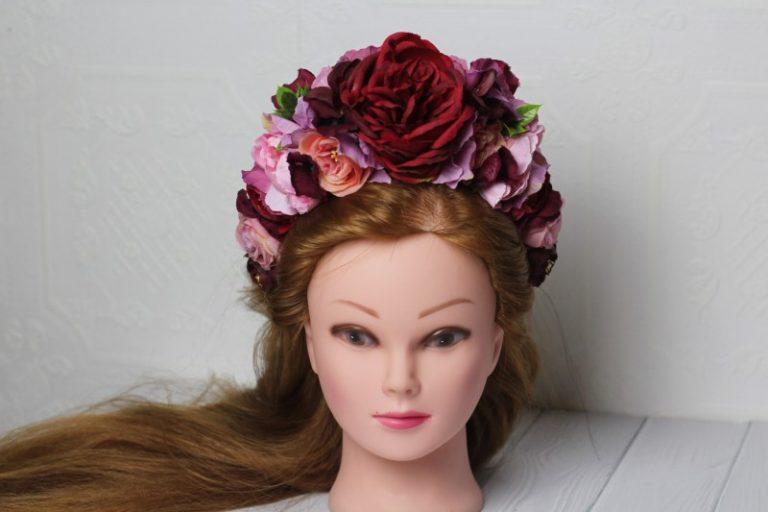 Ободки с цветами - как сделать своими руками модный аксессуар для волос (95 фото)