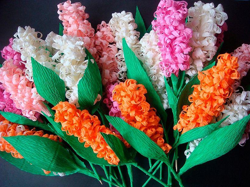 Цветы гиацинта из бумаги: схемы сборки с видео мастер-классами. мастер-класс. гиацинт из гофрированной бумаги
