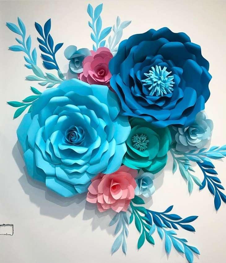 Цветы из бумаги своими руками - 63 фото идеи необычных бумажных изделий