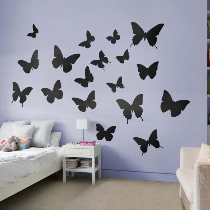 Этот пестрый мир – бабочки в интерьере