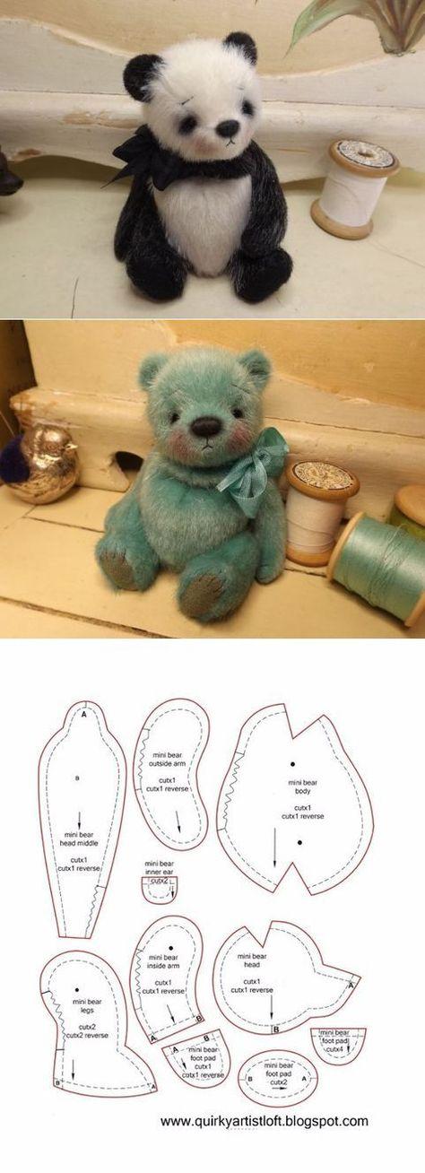 Сшить мишку своими руками выкройки: как шить медведя, шьем маленького плюшевого медвежонка тедди из ткани, из чего можно сделать