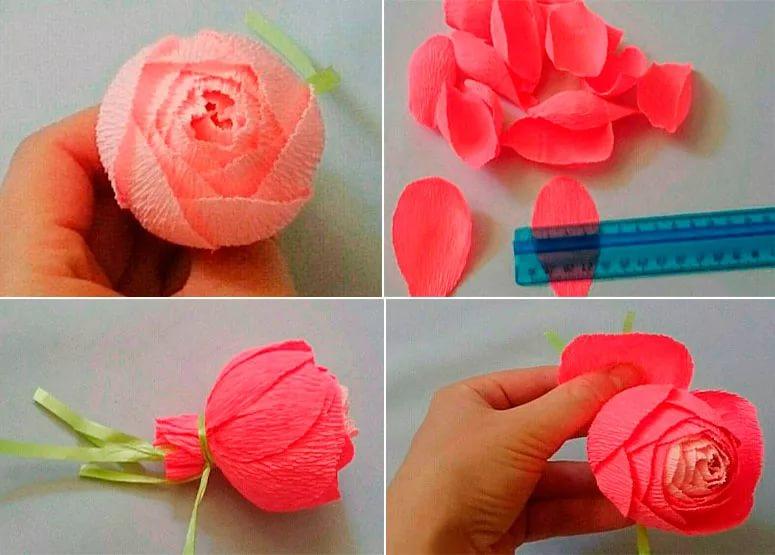 16 способов сделать цветы из гофрированной бумаги своими руками: 125+ фото, просто и сложно, большие и маленькие розы, пионы, тюльпаны, лилии и другие