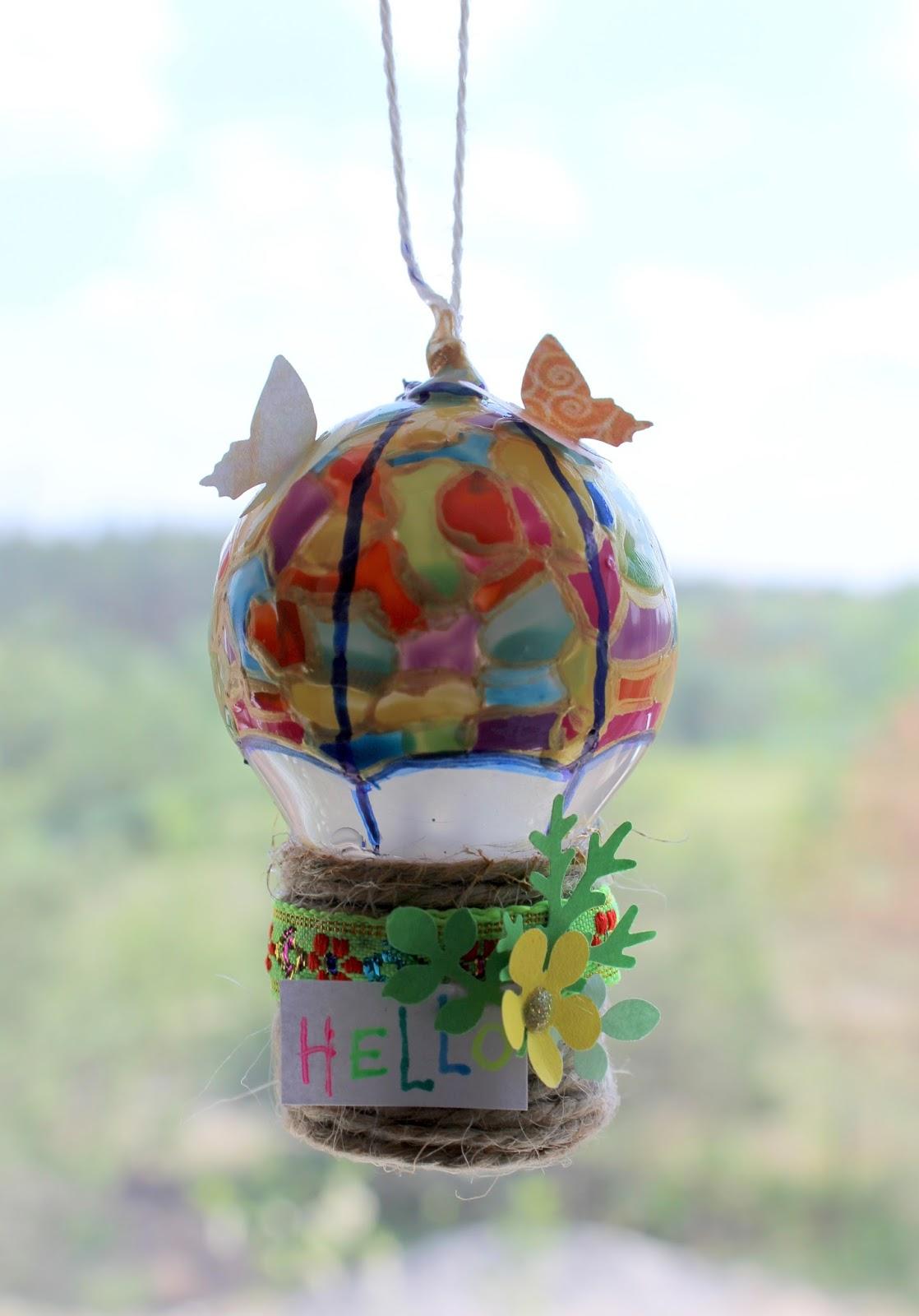 Воздушный шар - кораблик из лампочки. мк. | страна мастеров