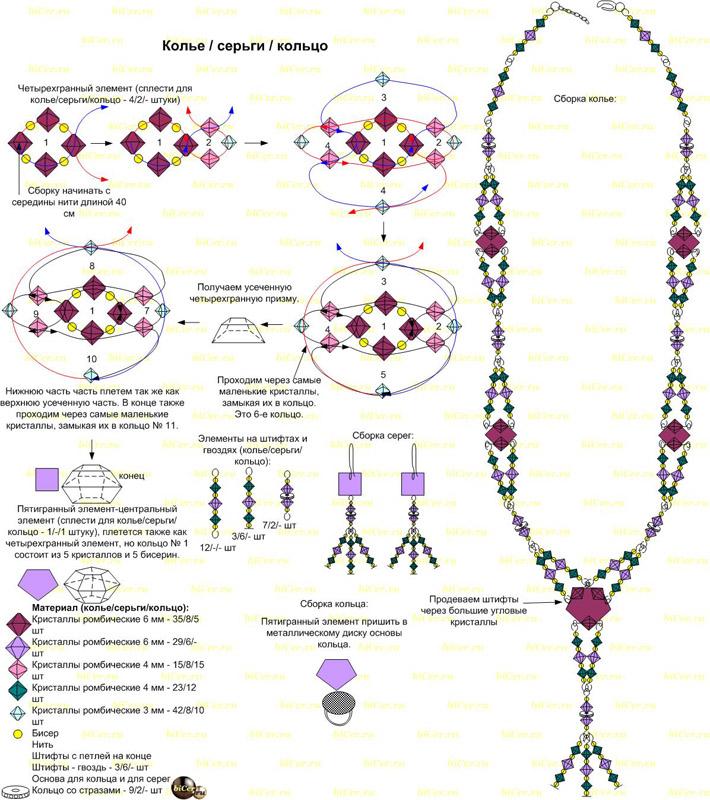 Колье из бисера и бусин ? плетение ожерелья и бус, бисероплетение изделий