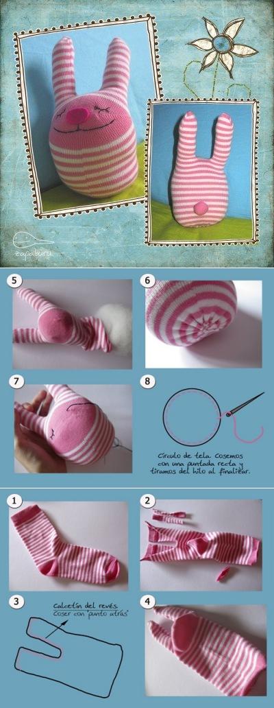 Заяц из носка: мастер-класс по изготовлению игрушки своими руками