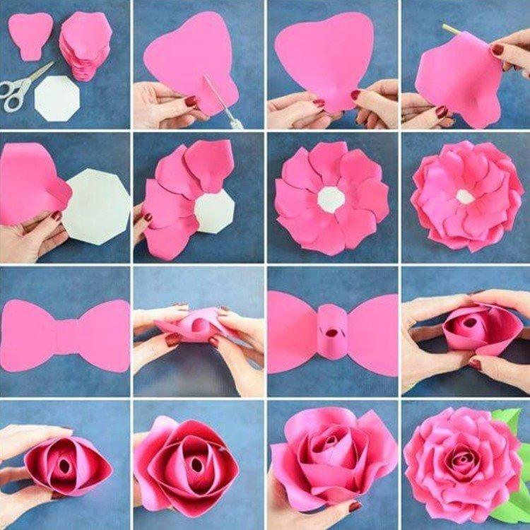 Как сделать розу из бумаги оригами: схемы и мастер-класс по изготовлению своими руками (100 фото + видео)