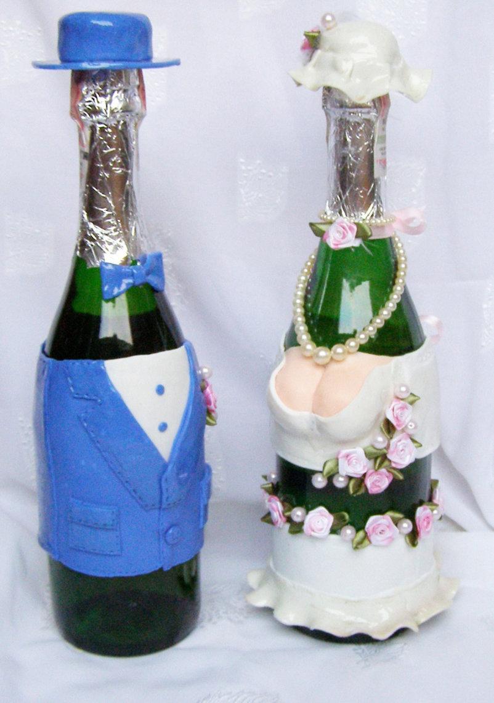 Как красиво украсить бутылку шампанского на новый год?