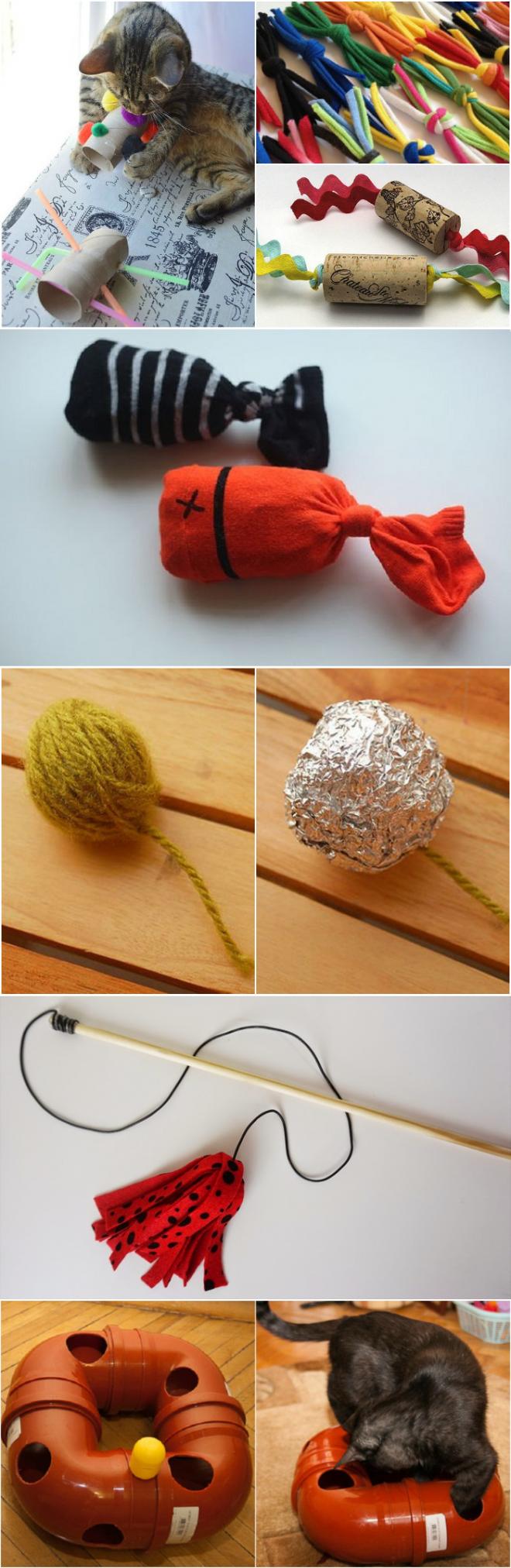 Как сделать игрушку для котёнка: 50 идей