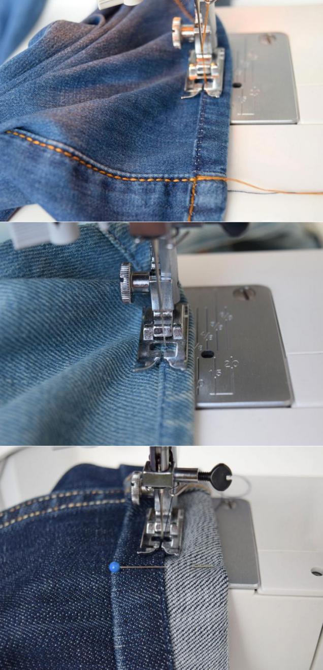 Как подрезать джинсы в домашних условиях