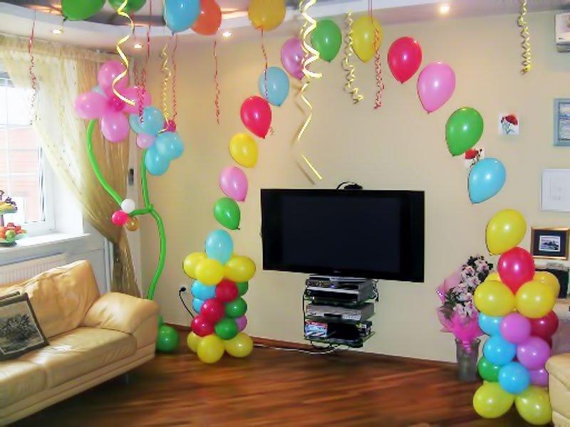 Как необычно украсить комнату воздушными шарами - 13 идей украшения комнаты шарами к разным случаям