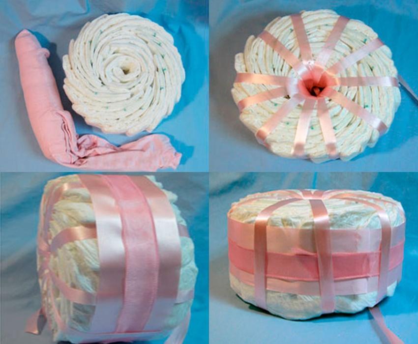 Как сделать торт из памперсов своими руками