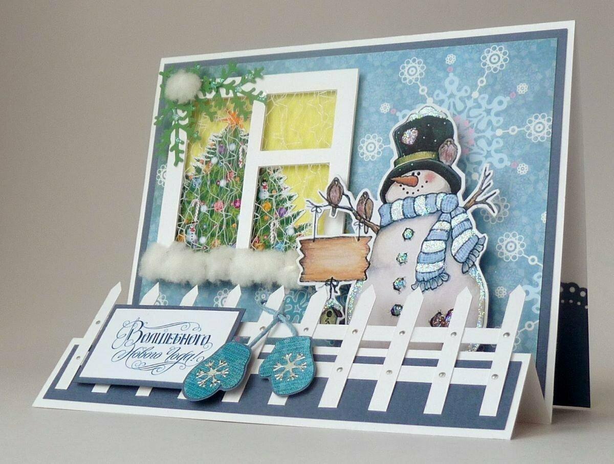 Открытка на новый год своими руками — простые и оригинальные идеи как сделать простую и красивую открытку (100 фото + видео)