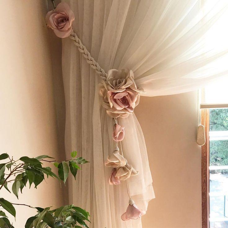 Подхваты для штор: 90 идей декора штор, фото в интерьере