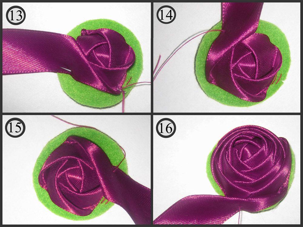 Как сделать розу из ткани?