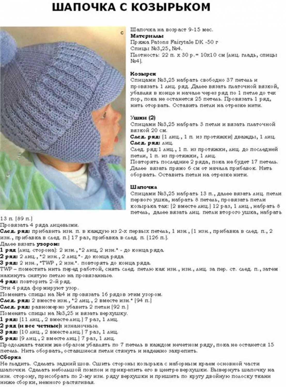 Шапочка для новорожденного спицами с описанием и схемами. для мальчика и девочки, с ушками, капелька, мишка. фото и инструкция вязания