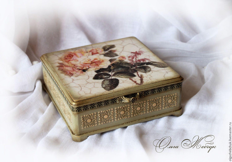 Красивый декупаж картонной коробки: фото и видео описание техники оформления для начинающих