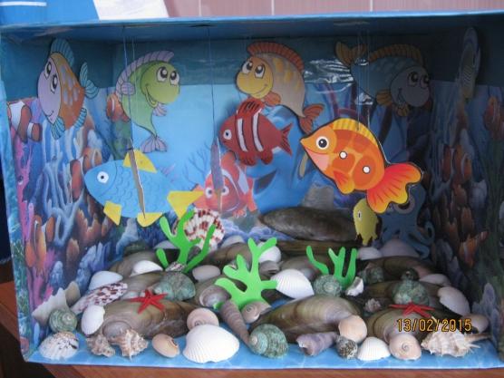 Аквариумы своими руками, макеты аквариумов в уголок природы - фотоотчёты.