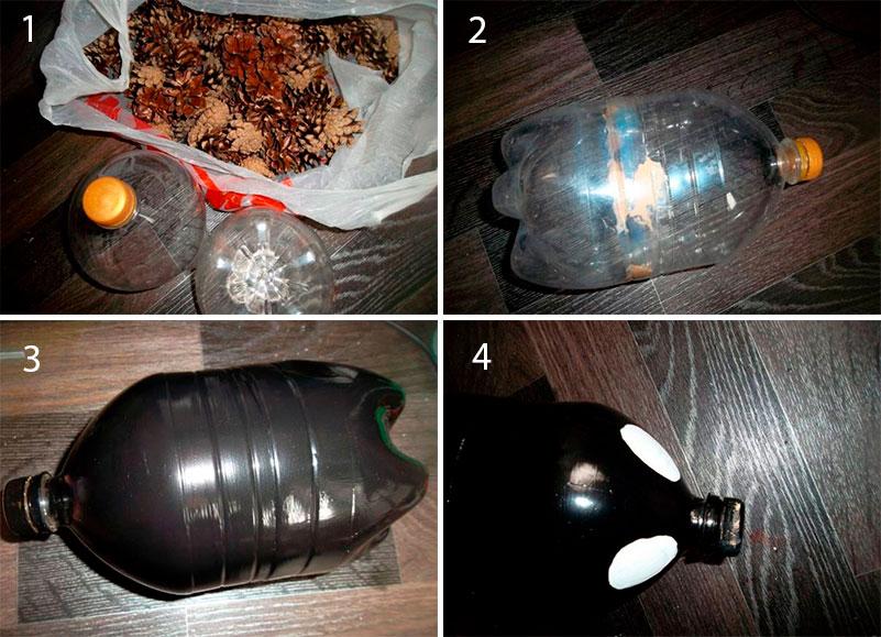 Ежик из пластиковой бутылки своими руками – фото, как сделать