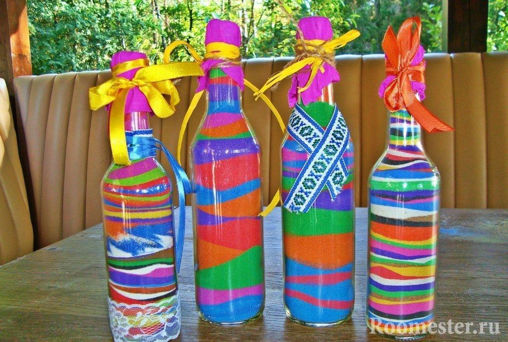 Декор бутылок: 125 фото и видео красивых идей украшений разными техниками