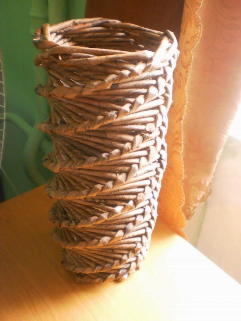 Плетение из бумажной лозы, основы для начинающих