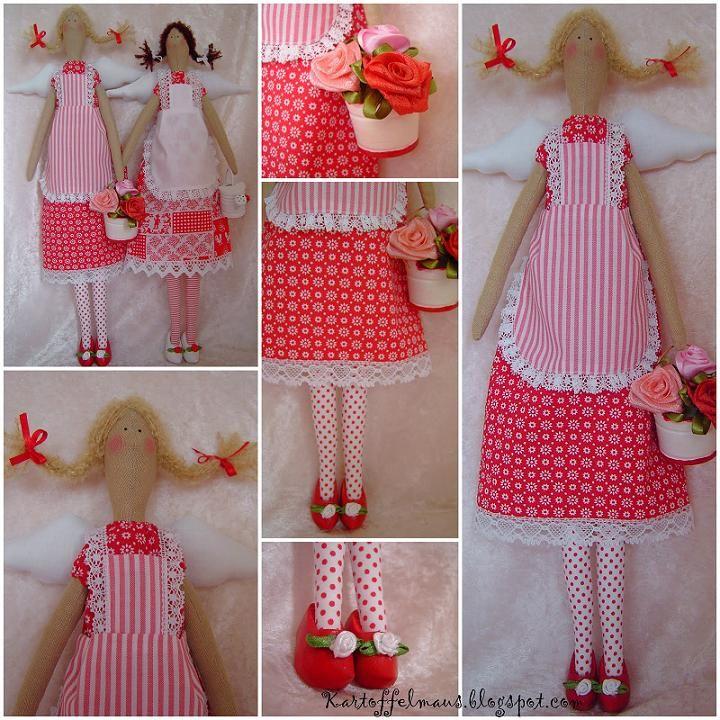 Выкройки кукол тильда в натуральную величину: ангел уюта, заяц и курочка для кухни в натуральную величину