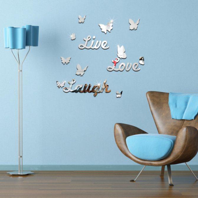 Бабочки на стену своими руками: 10 интересных идей декора, как сделать (фото и видео)