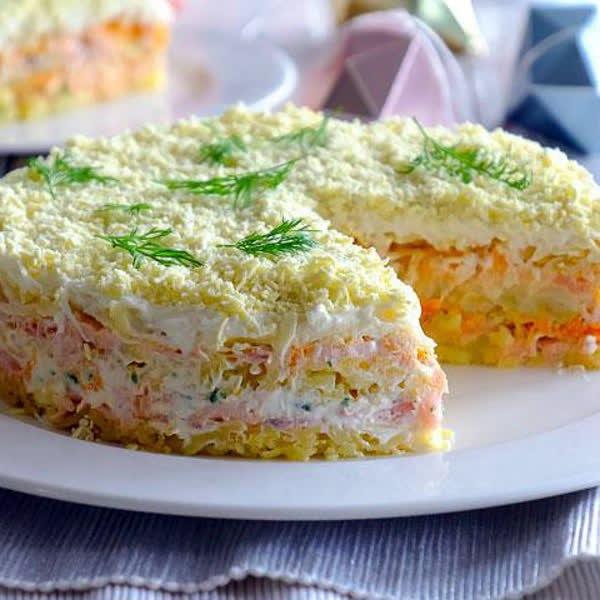 Салат мимоза классический - рецепт