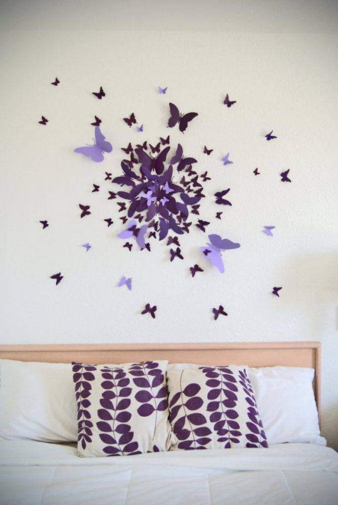Бабочки на стену: декорирование при помощи трафаретов (95 фото)