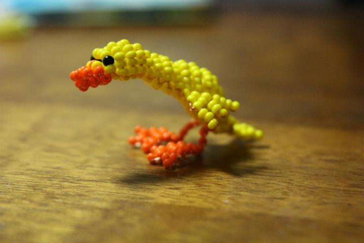 Объемная игрушка уточка из бисера: мастер-класс