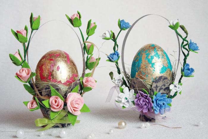 Вальс цветов на пасхальном яйце