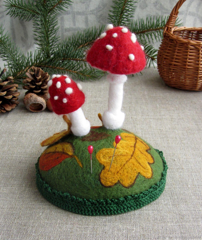Игольница по грибы крючком мк