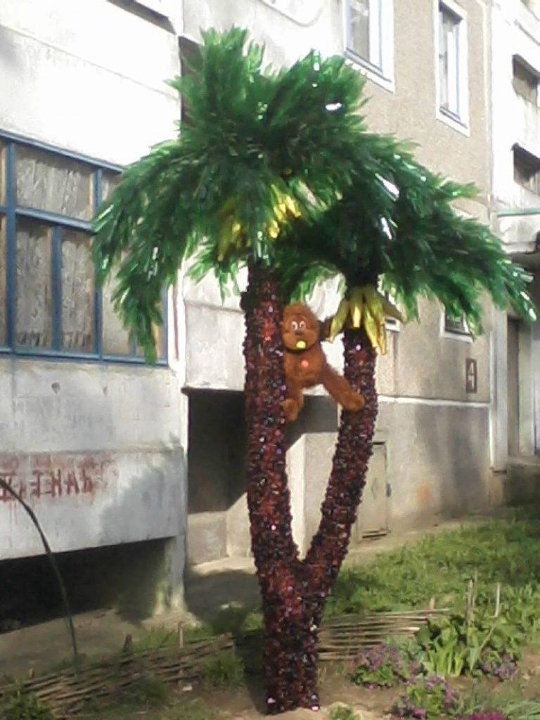 Как сделать пальму из бутылок — подробное описание как построить красивую и большую пластиковую пальму (105 фото)