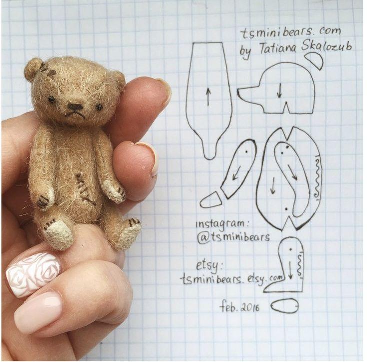 Выкройка плюшевого медведя: как сшить мягкую игрушку
