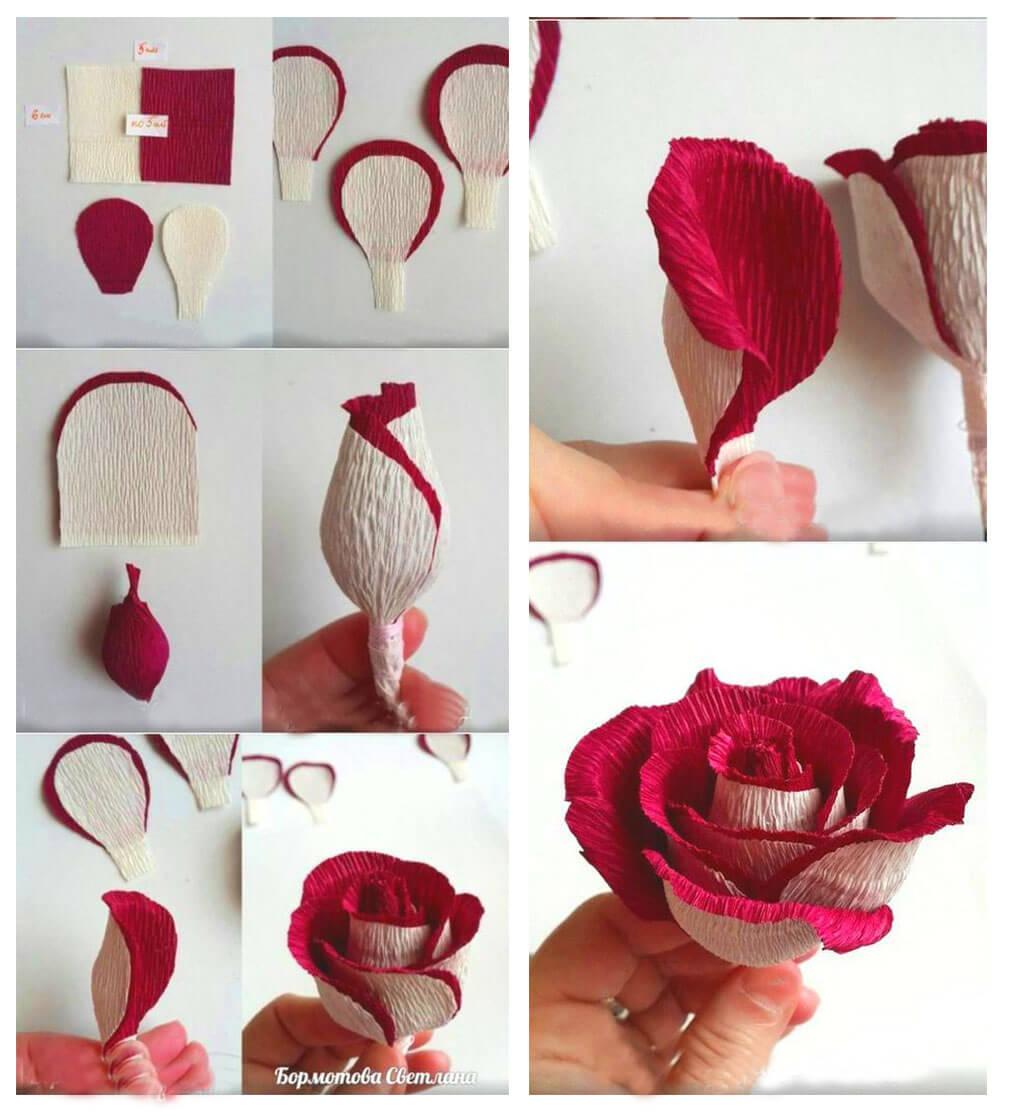 Розы из гофрированной бумаги своими руками, мастер-класс с фото