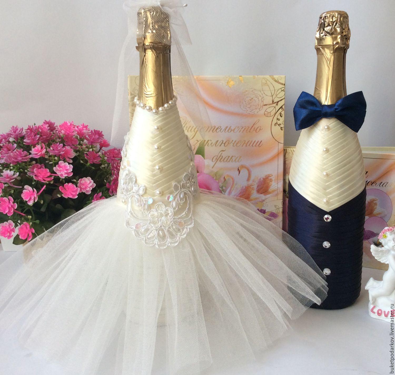 Бутылки на свадьбу своими руками – идеи декорирования с пошаговой инструкцией и фото: мастер-классы по украшению свадебных бутылок | qulady