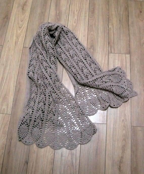 Вяжем: шарф спицами