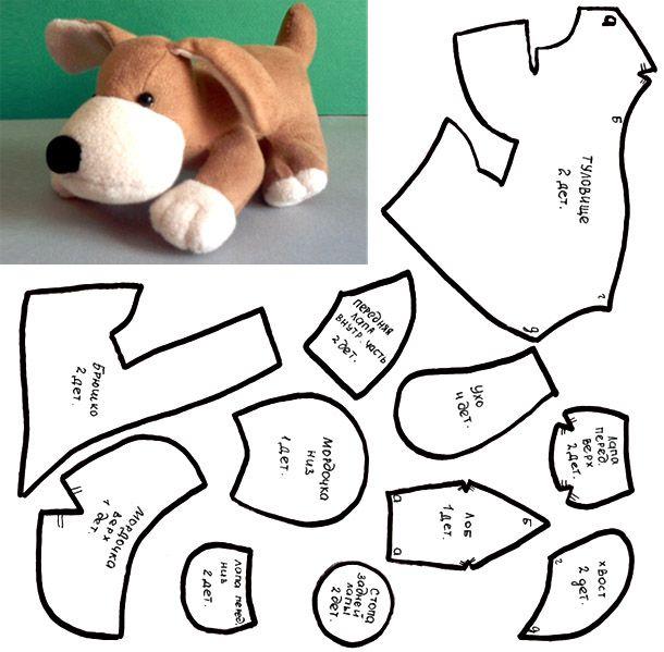 Построение выкроек и пошив собственноручно игрушки собаки