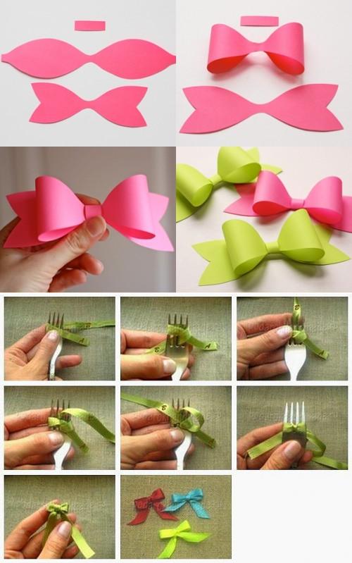 Как сделать бантик из бумаги своими руками – пошаговая инструкция