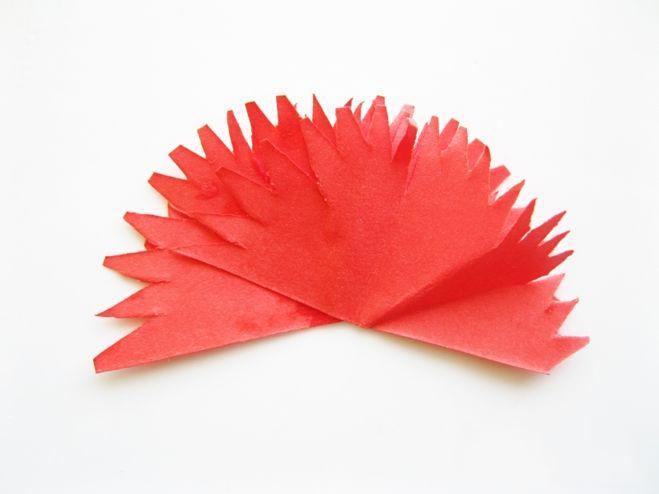 Объемные гвоздики из бумаги на открытку 9 мая. как сделать легко?