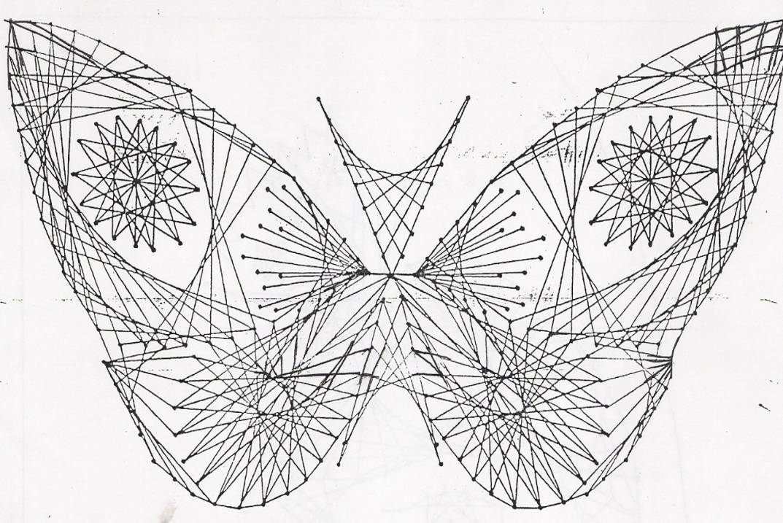 Картины из ниток и гвоздей, панно из ниток пряжи и клея своими руками, схемы и шаблоны