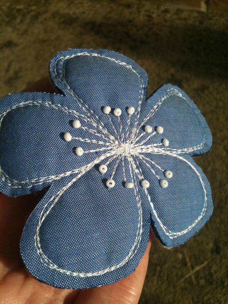 Джинсовый цветочек