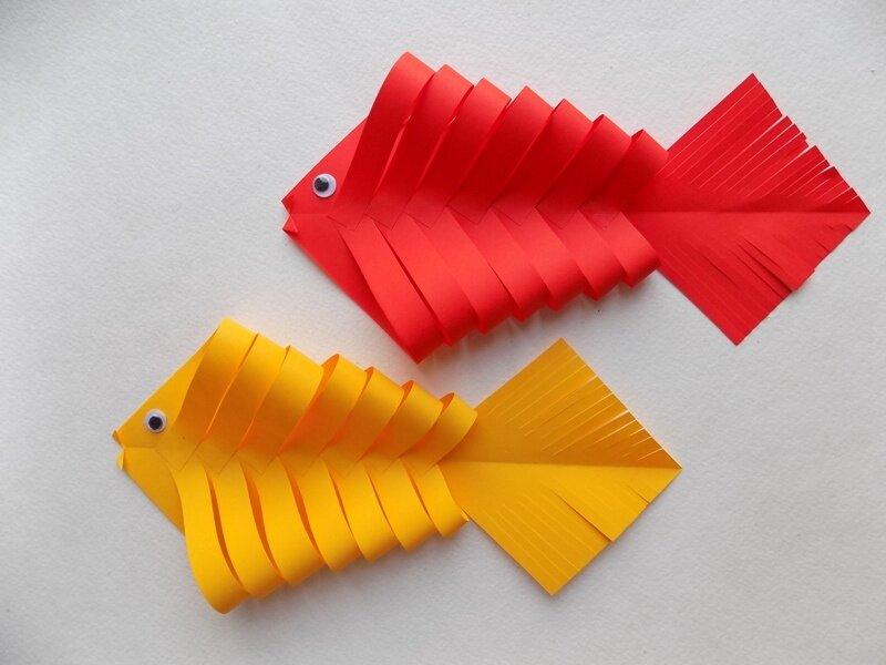 """Поделка рыбка из цветной бумаги - ооо """"яргео"""""""