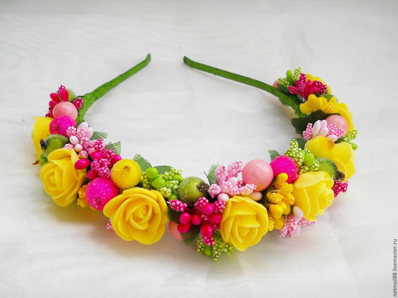 Ободок с цветами — устаревшее но прекрасное украшение для женщин + фото
