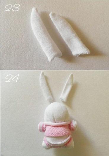 Игрушки из носков своими руками схемы. как сделать мягкую игрушку в виде зайчика. игрушки из носков и детских колготок