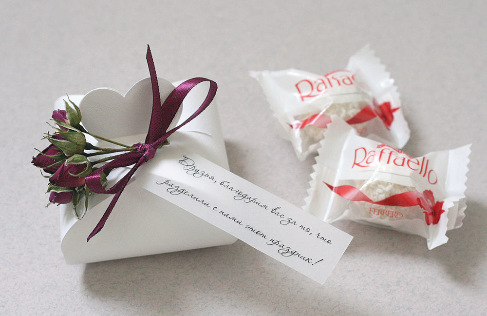 Бонбоньерки на свадьбу, оригинальные подарки для гостей